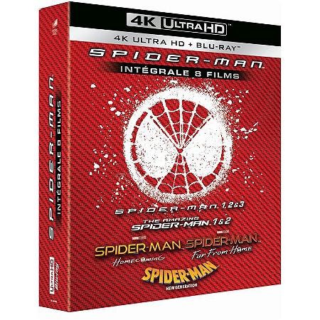 Coffret Blu-ray 4K UHD : Spider-Man - L'intégrale des 8 Films