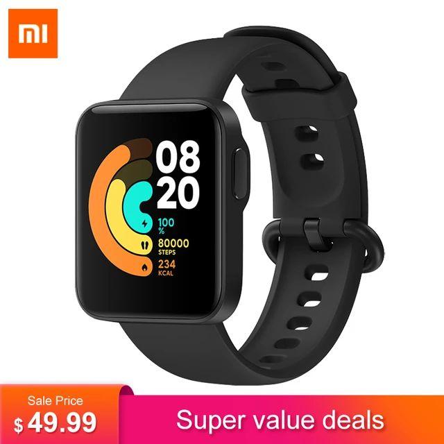 """Montre connectée Xiaomi Mi Watch Lite (Global) - Ecran 1.4"""", GPS, 230 mAh / Autonomie 9 jours, Fréquence cardiaque (Plusieurs Coloris)"""