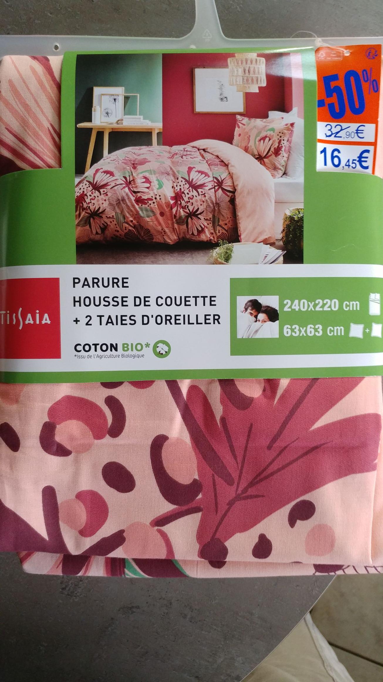 Parure coton Bio couette + 2 taies (plusieurs tailles & coloris) - Brest Kergaradec (29)