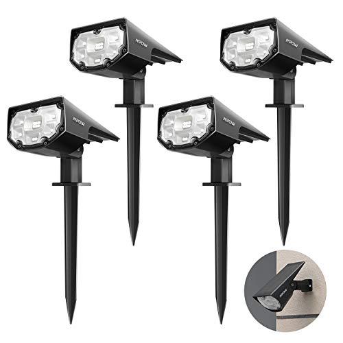 Lot de 4 Spots Extérieur Solaire Mpow - 12 LED, Etanche IP67 (Vendeur tiers)