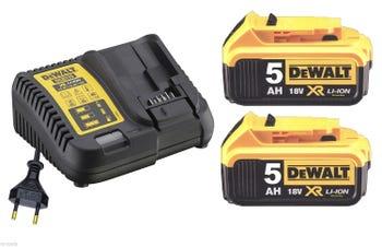 Pack DeWalt DCB115P2 : 2 batteries dcb184 18V 5Ah + chargeur dcb115 (via ODR de 50€)