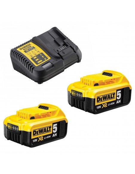 Pack DeWalt DCB115P2 : 2 batteries dcb184 18V 5Ah + chargeur dcb115 (via ODR de 50€) -