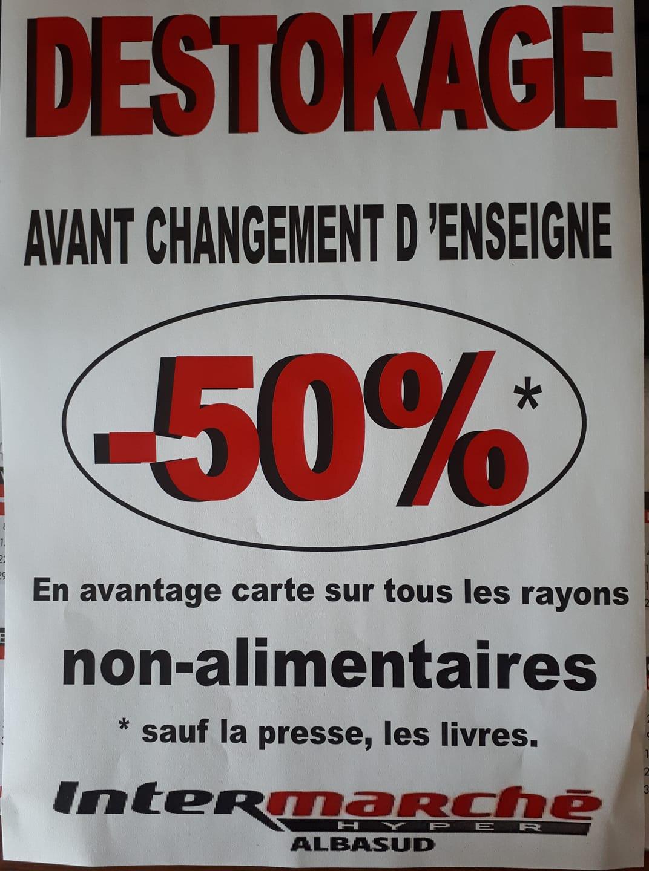 50% offerts en avantage carte sur tous les rayons non-alimentaires - Albasud Montauban (82)