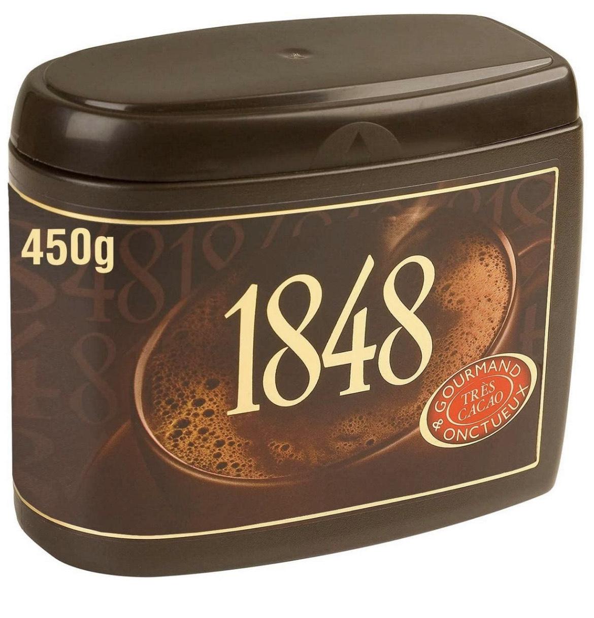 Lot de 3 boites de chocolat en poudre Poulain 1848 - 3 x 450g