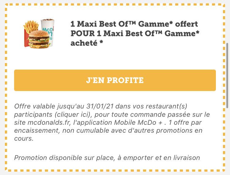 Calendrier Mcdo Bon Plan 2021 Bons plans McDonald's ⇒ Deals pour janvier 2021   Dealabs.com