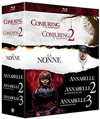 Coffret Blu-Ray Warren Collection de 6 films Conjuring 1 & 2 + La nonne + Annabelle 1, 2 & 3