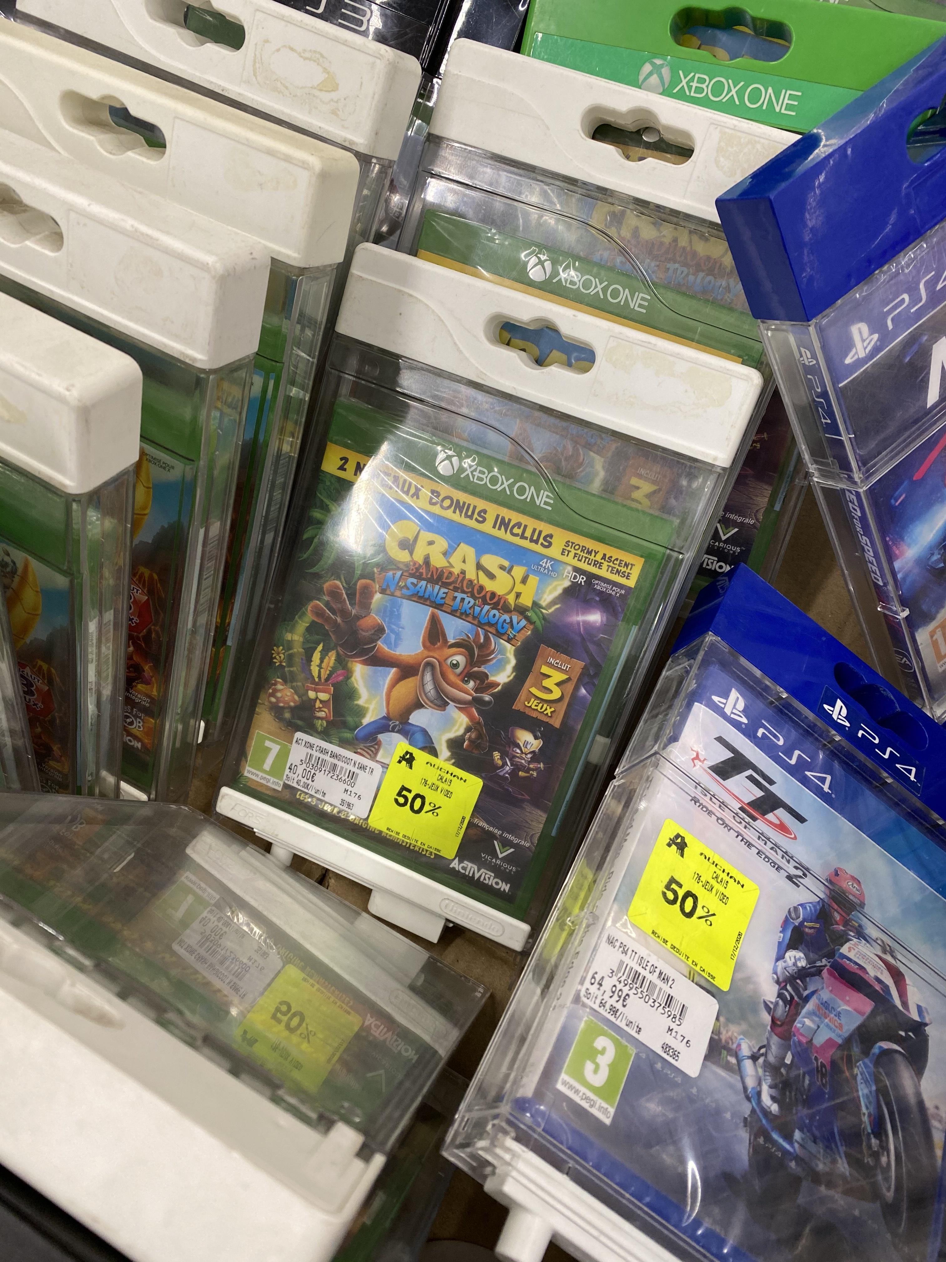 Sélection de jeux vidéo en promotion - Ex : Crash Bandicoot N. Sane Trilogy sur Xbox One - Calais (62)