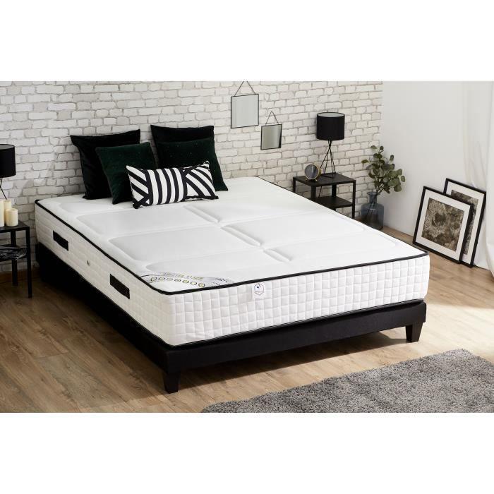 Ensemble matelas + sommier Confort Design Hotel Luxe - 160 x 200 cm, 792 Ressorts, 30 cm, 7 zones (399.99€ pour les CDAV)