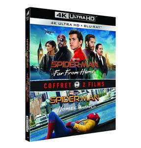 Coffret Blu-ray 4K UHD Spider-Man: Far From Home + Spider-Man: Homecoming (+ Blu-ray)