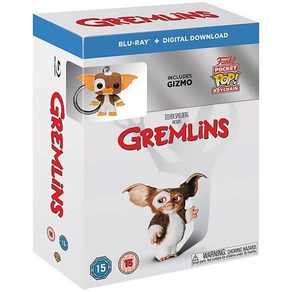 Blu-ray Gremlins 1 + porte-clés Funko pop Gizmo