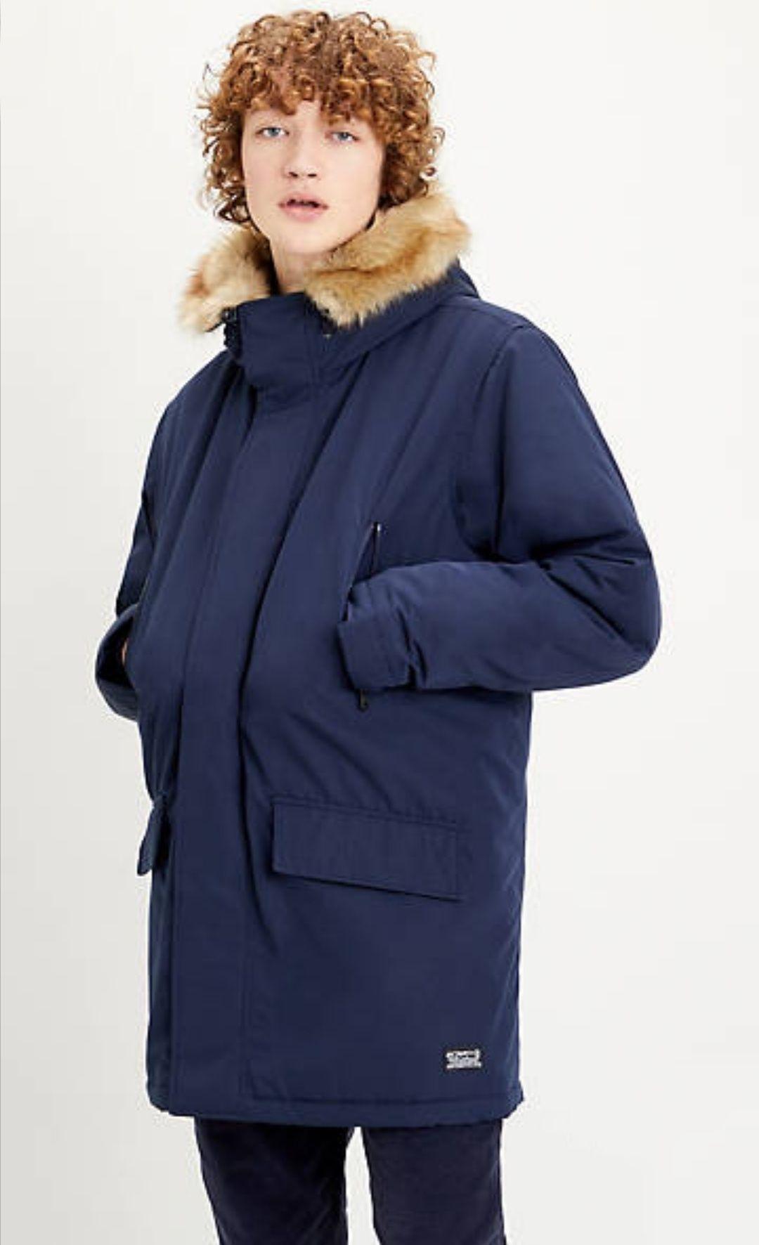 Parka Levi's Woodside Long Utility Bleu (Tailles S à XL)