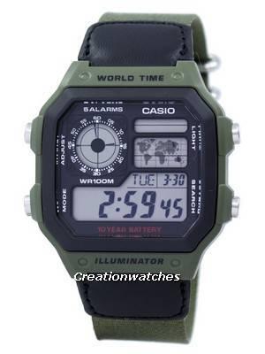 Montre numérique Casio Standard AE-1200WHB-3BV (frais de port et taxes incluses)