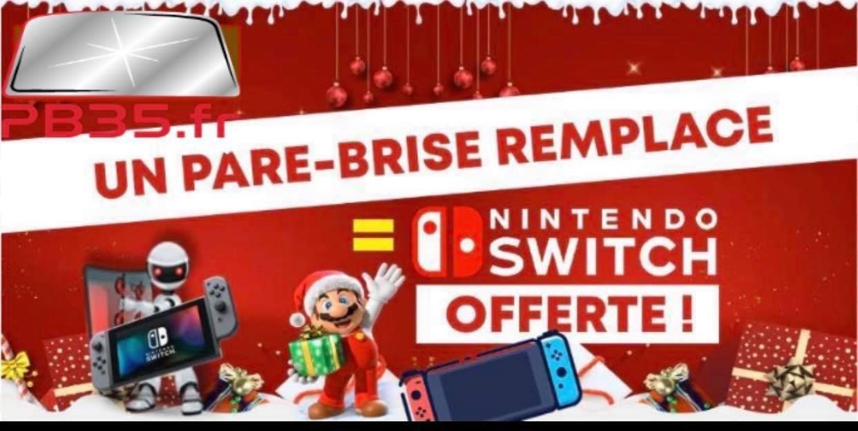 Nintendo Switch Lite offerte pour tout remplacement d'un pare-brise - Pare Brise 35 Bréal-sous-Monfort / Vern-sur-seiche (35)