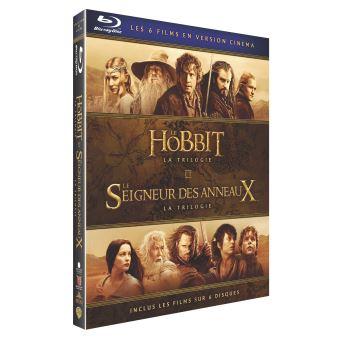 Coffret Blu-ray Hobbit La Trilogie + Le Seigneur des Anneaux La Trilogie