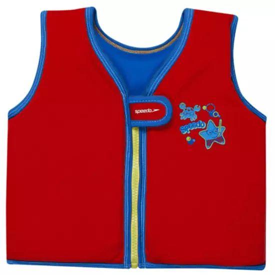 Gilet de natation Speedo Sea Squad Swimvest - Rouge/Bleu (1 à 6 ans)