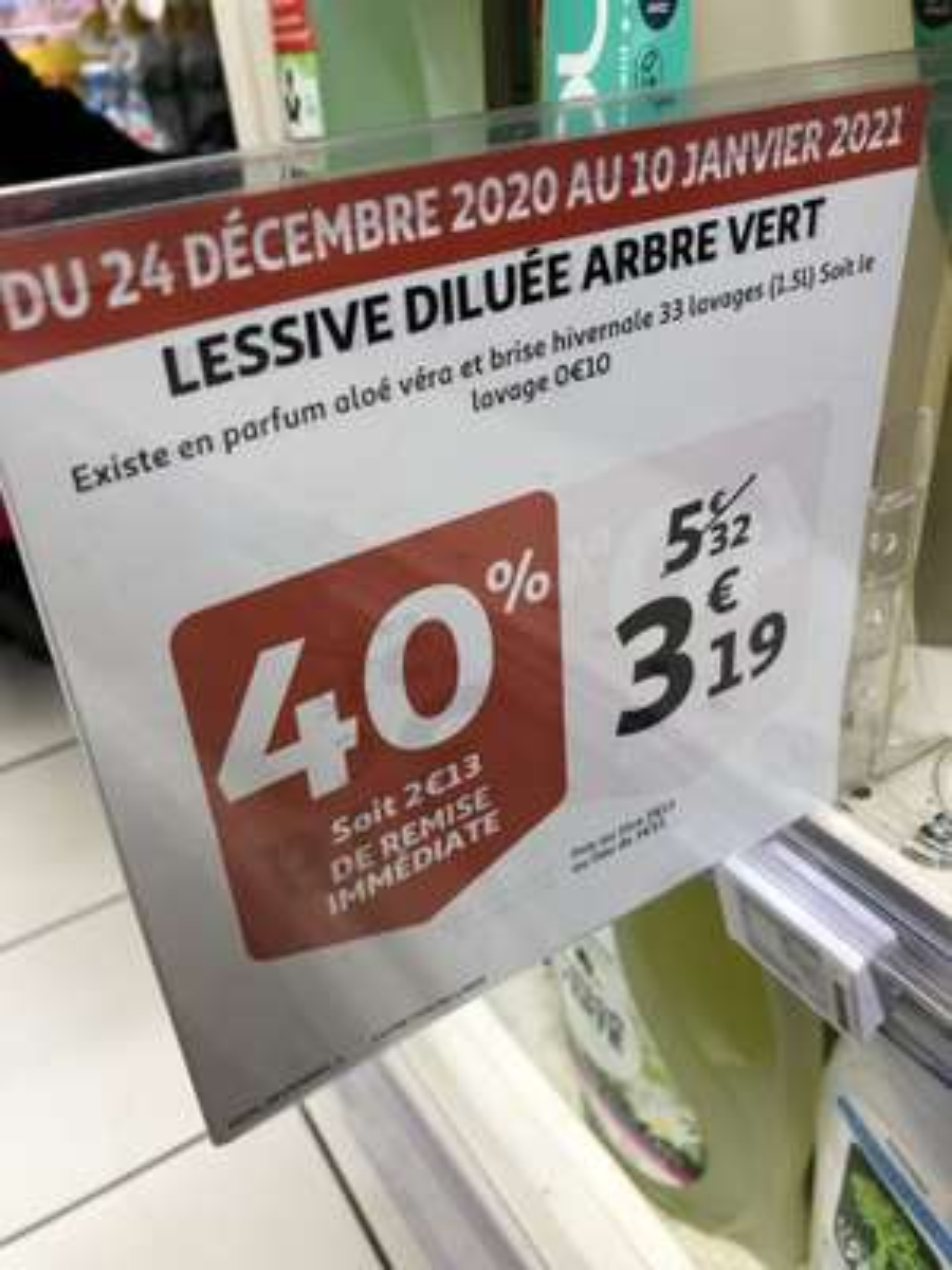 Lessive liquide L'Arbre Vert 1.5L (2 parfums) - Issy-les-Moulineaux (92)