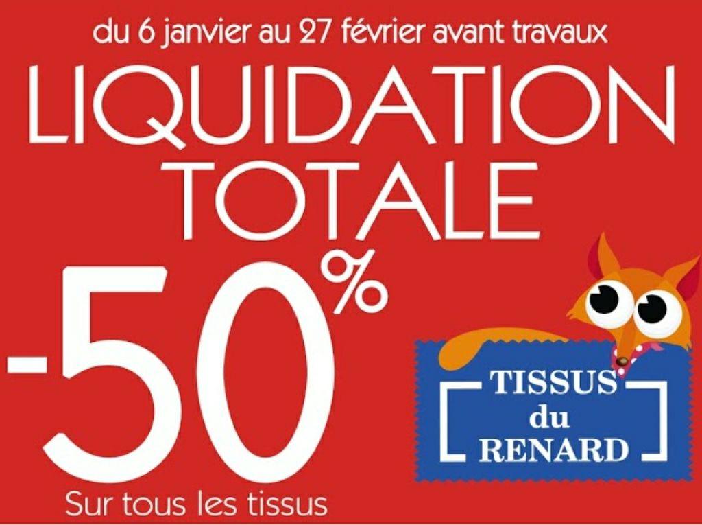 50% de réduction sur tous les tissus (liquidation avant travaux) - Les Tissus du Renard Niort (79)