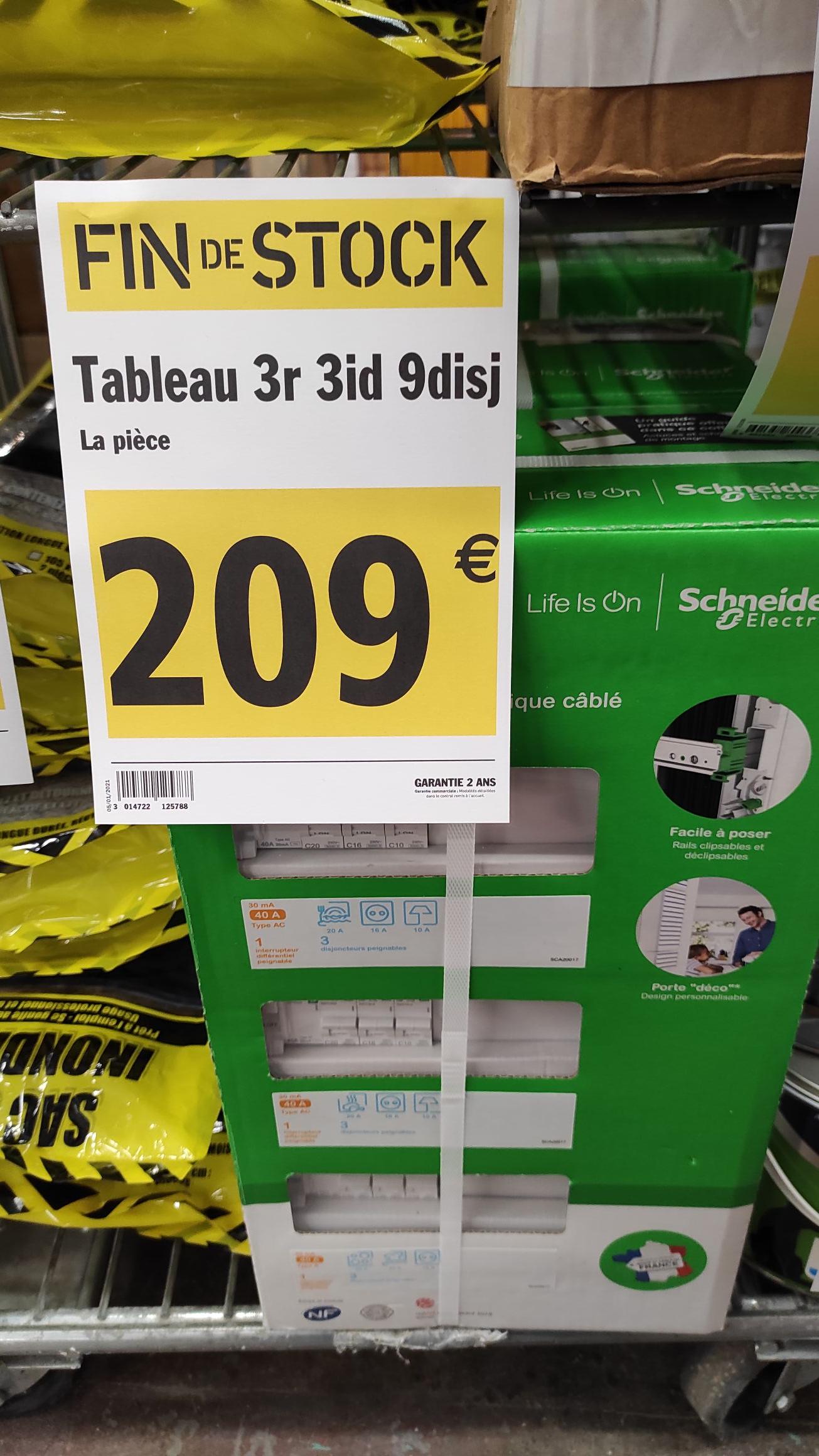 Tableau électrique 3 rangées Schneider Resi9 - Blois (41)