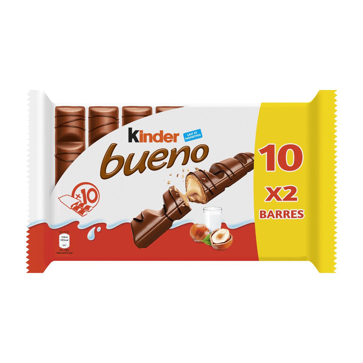 Paquet de 10 Kinder Bueno (10x2 barres)