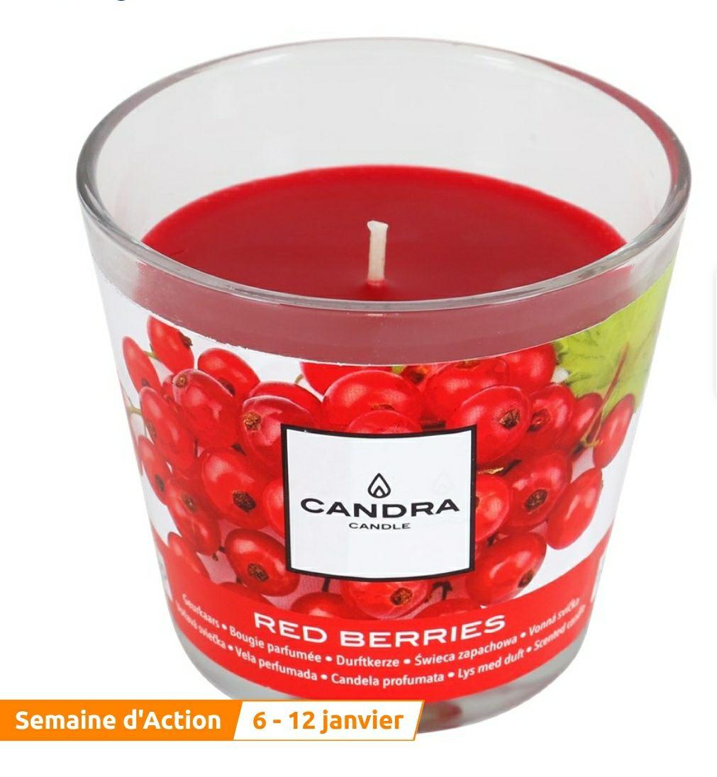 Bougie parfumée Candra - Diamètre 9 cm x 8.5 cm