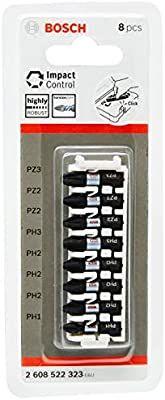Embouts pour visseuse Bosch 2608522323 Impact PH 1,2x 3,3, PZ 2x 2,3: 25mm