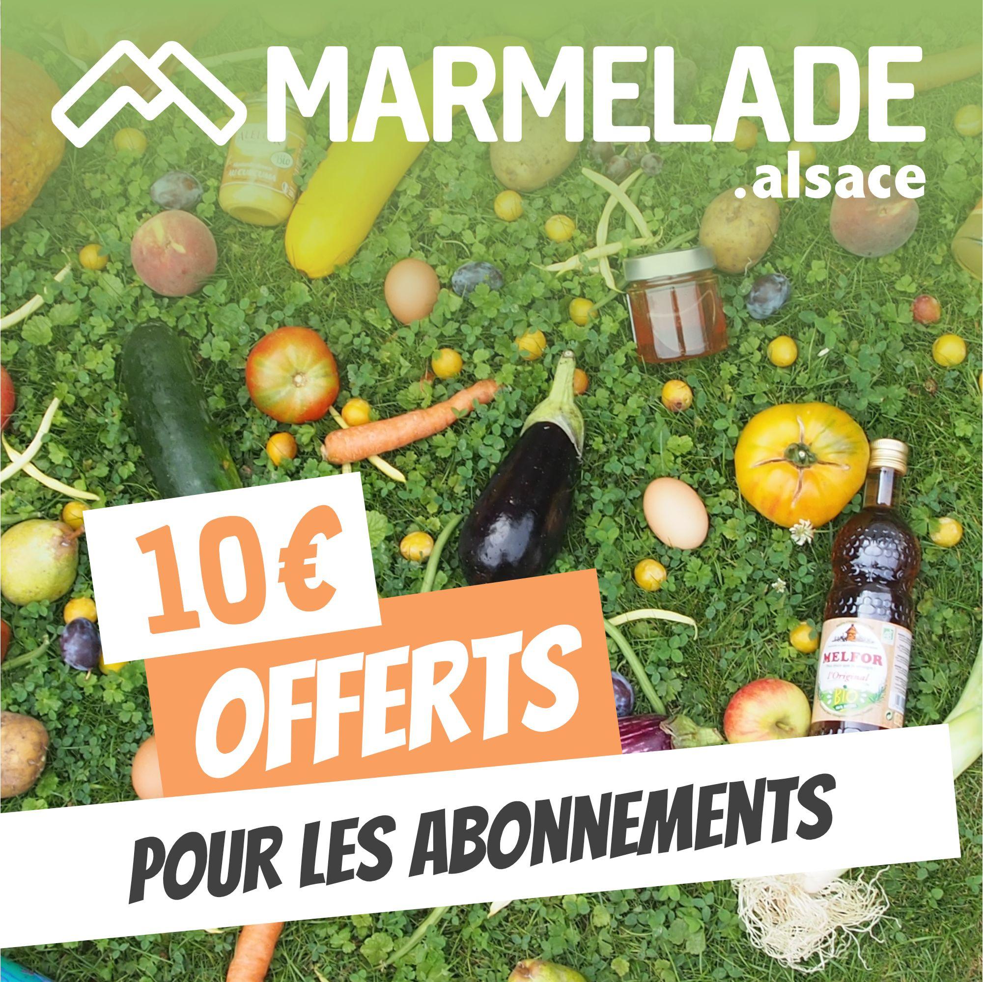 10€ de réduction pour faire ses courses locales (marmelade.alsace)