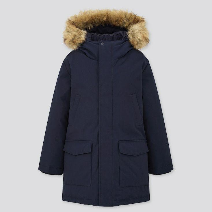 Manteau rembourré à capuche enfant Uniqlo (De 3 à 13 ans)