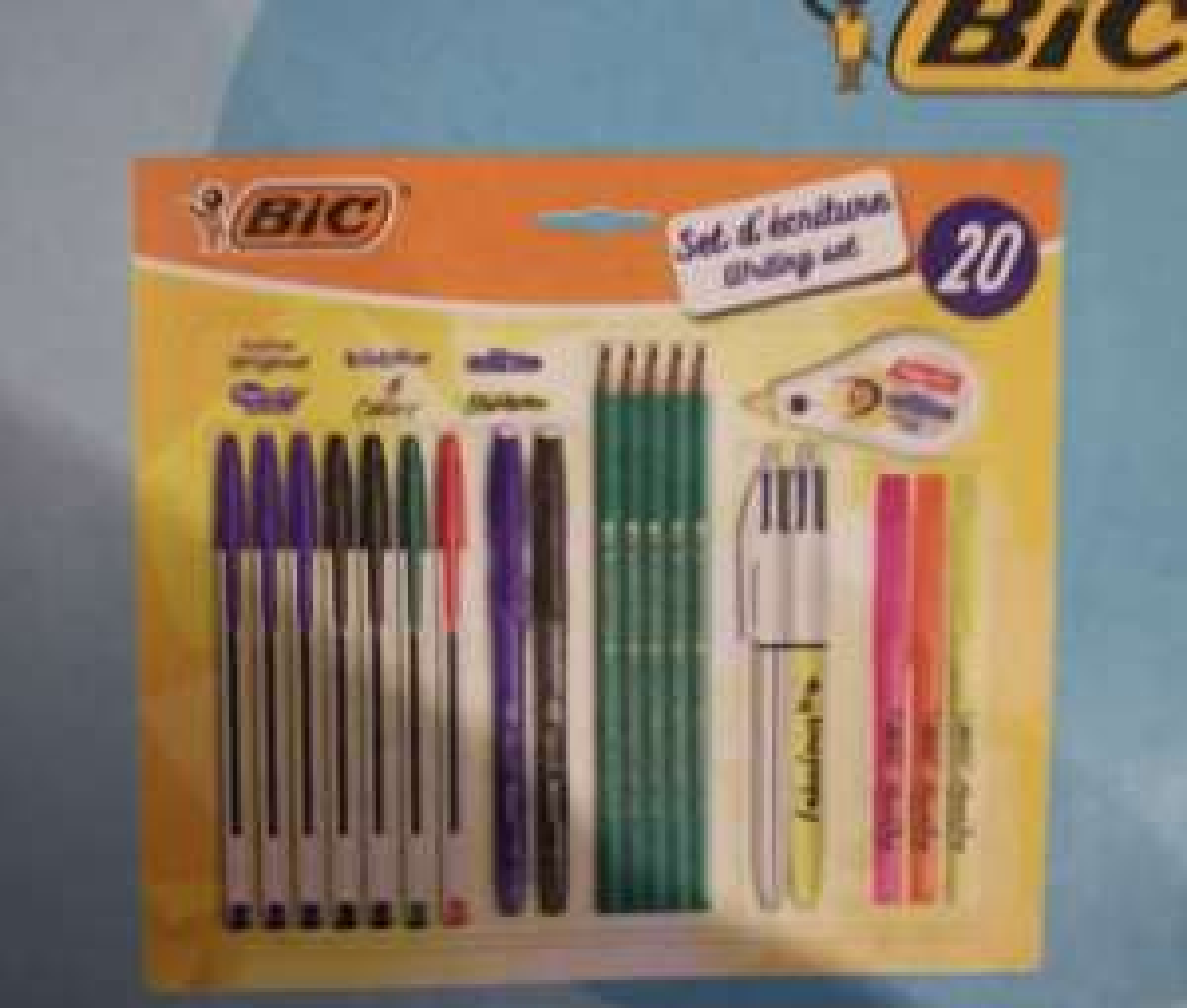 Kit de papeterie Bic - 20 pièces