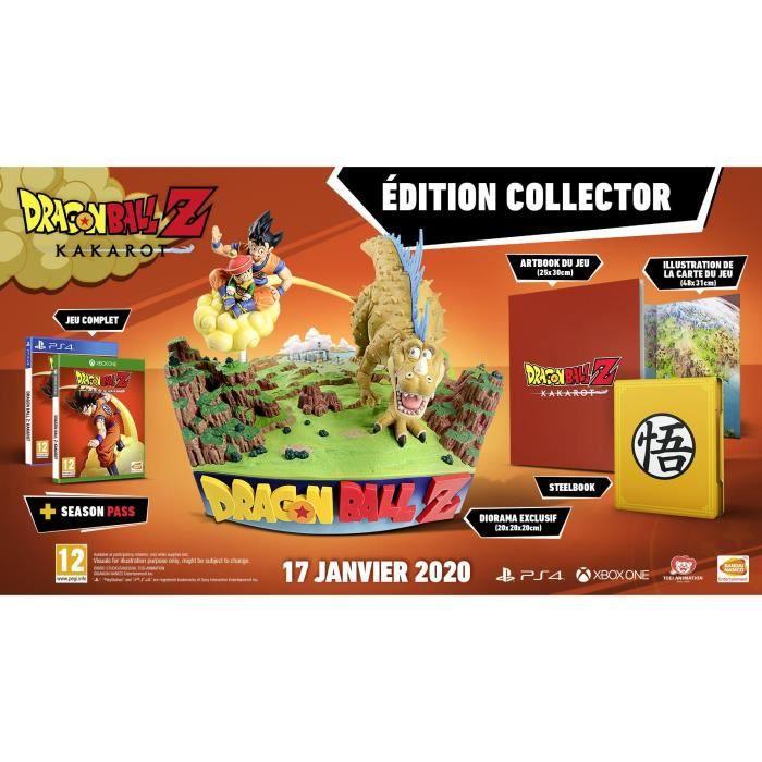 Dragon Ball Z Kakarot Edition Collector (Figurine, Steelbook, Artbook, Season pass) sur PS4 ou Xbox One