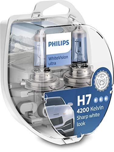 Paire de 2 Ampoules H7 Philips WhiteVision Ultra