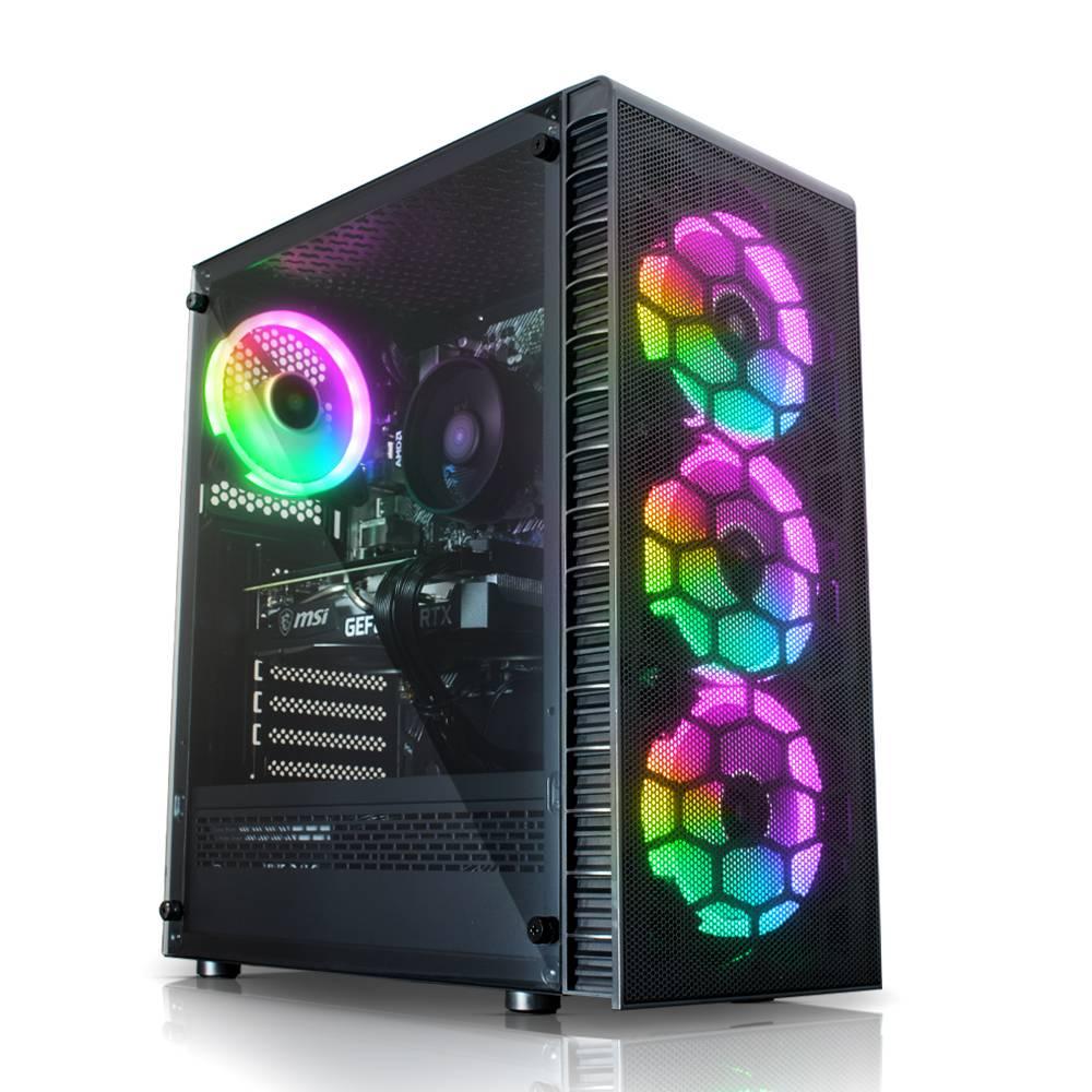 PC Gamer Observatory Lite Mesh - RTX 3060 Ti 8 Go, Ryzen 5 3500X, 8 Go RAM, 240 Go SSD, Alim 650W, sans OS (frais de port inclus)