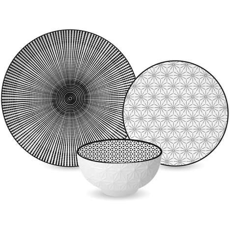 Service en porcelaine Ginzu - 18 pièces
