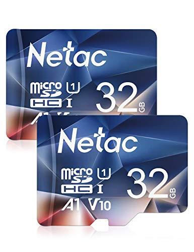 Lot de 2 cartes mémoires micro SDHC Netac - 32 Go
