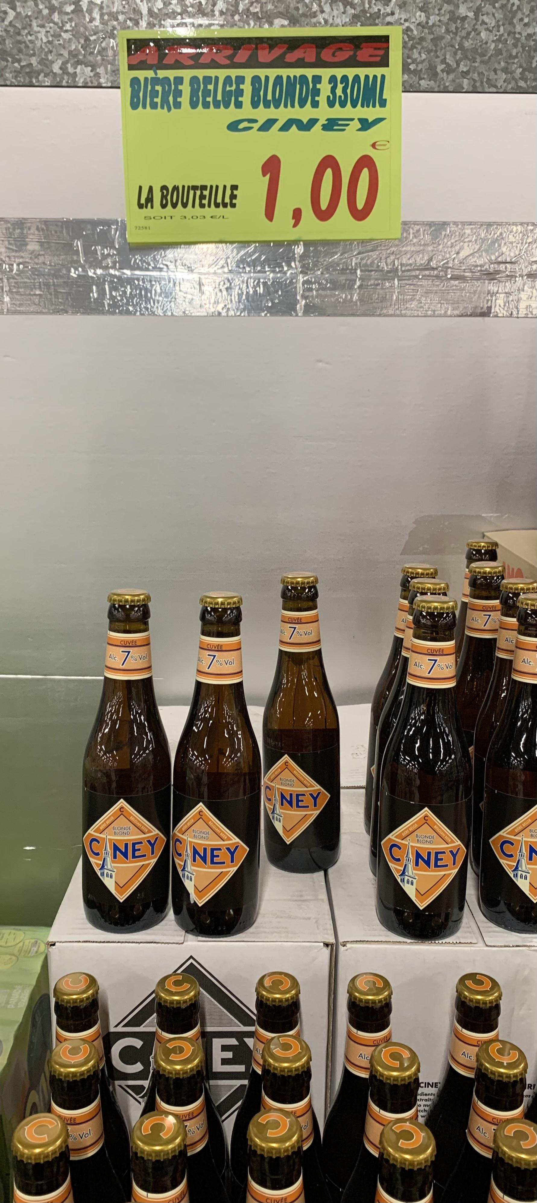 Bouteille de bière Ciney Blonde ou Lagunitas Maximus (33cl) - Cauffry (60)