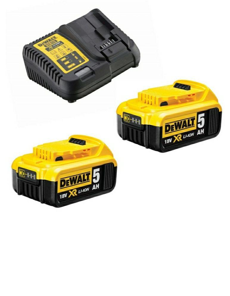 Pack de 2 batteries DeWalt DCB115P2 (18 V, 5 Ah) + Chargeur (Via ODR 50€)