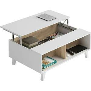 Table basse avec plateau central relevable Zai