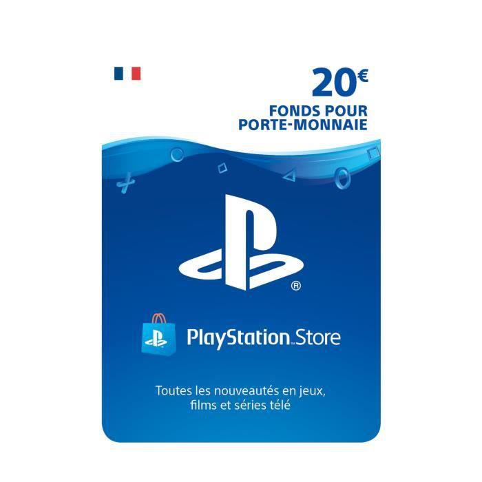 20€ de Fonds pour porte-monnaie PlayStation Store (Dématérialisé)