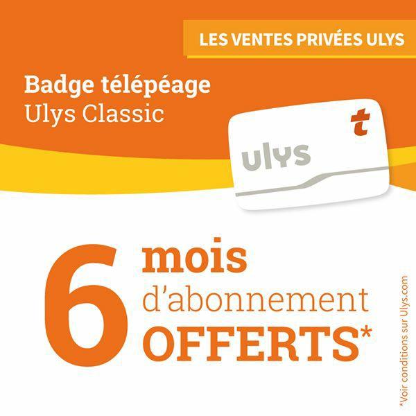 [Nouveaux clients] 6 mois d'abonnement gratuit au badge télépéage Vinci Autoroutes Ulys