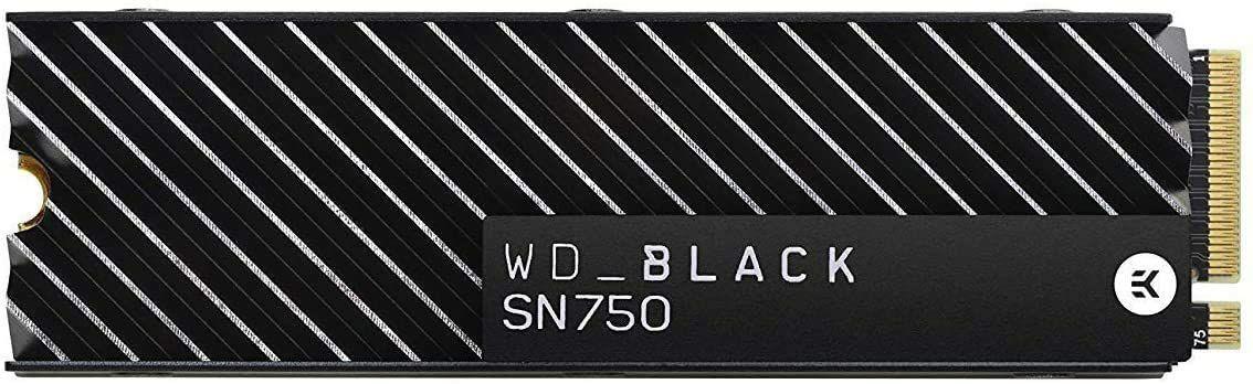 SSD NVMe M.2 PCIe WD Black SN750 - 500 Go (avec dissipateur)