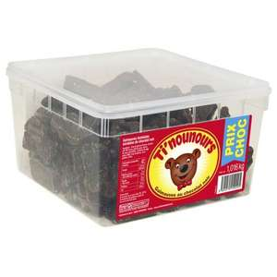 Boîte de Guimauves Chocolat Ti'Nounours chocolat blanc lait ou noir (1.016kg)