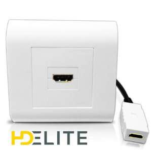 Prise murale simple HDMI 1.4 + rallonge (compatible 3D) HDElite