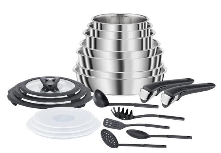Sélection d'articles Tefal en promotion - Batterie de cuisine Seb - 20 pièces, tous feux dont Induction