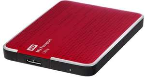 "Disque dur externe 2.5"" Western Digital My Passport Ultra 1 To - rouge (reconditionné)"
