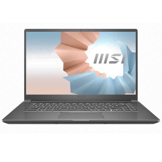 "Pc portable 15.6"" MSI Modern 15-A11M-050XFR - Full HD IPS, Intel Core i7-1165G7, RAM 8 Go, SSD 512 Go, UMA, Sans OS"