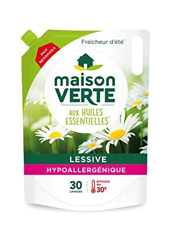 Lessive écolabel hypoallergénique aux huiles essentielles Maison Verte - 1,8L