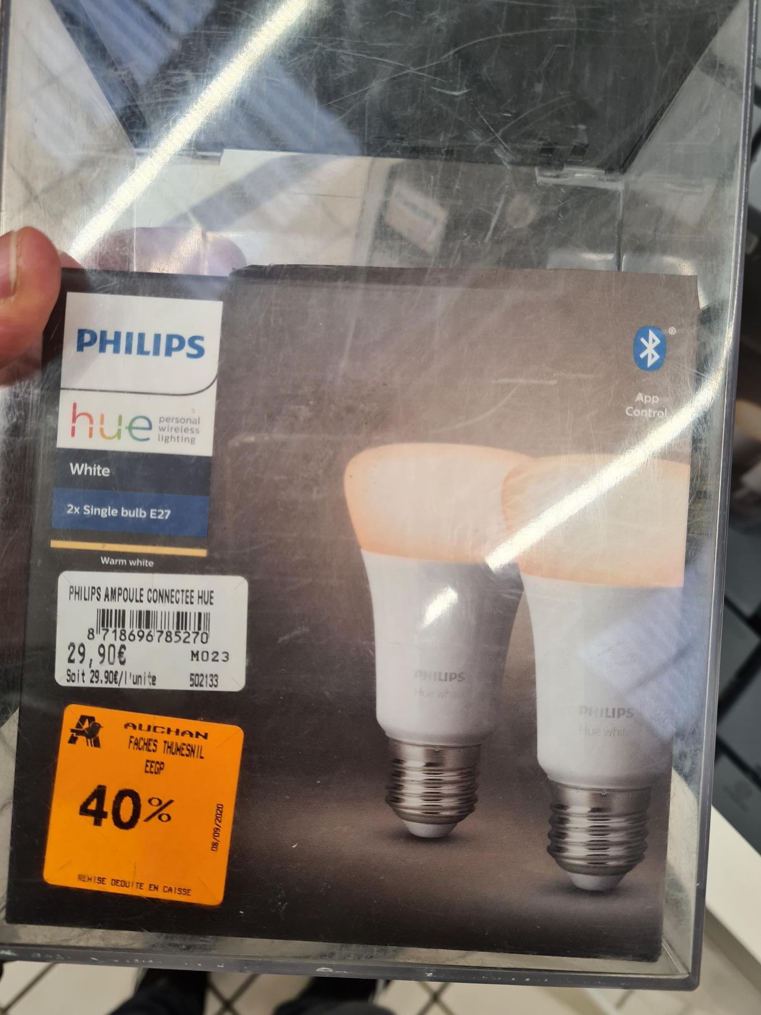 Lot de 2 ampoules connectées Philips Hue White - Faches-Thumesnil (59)