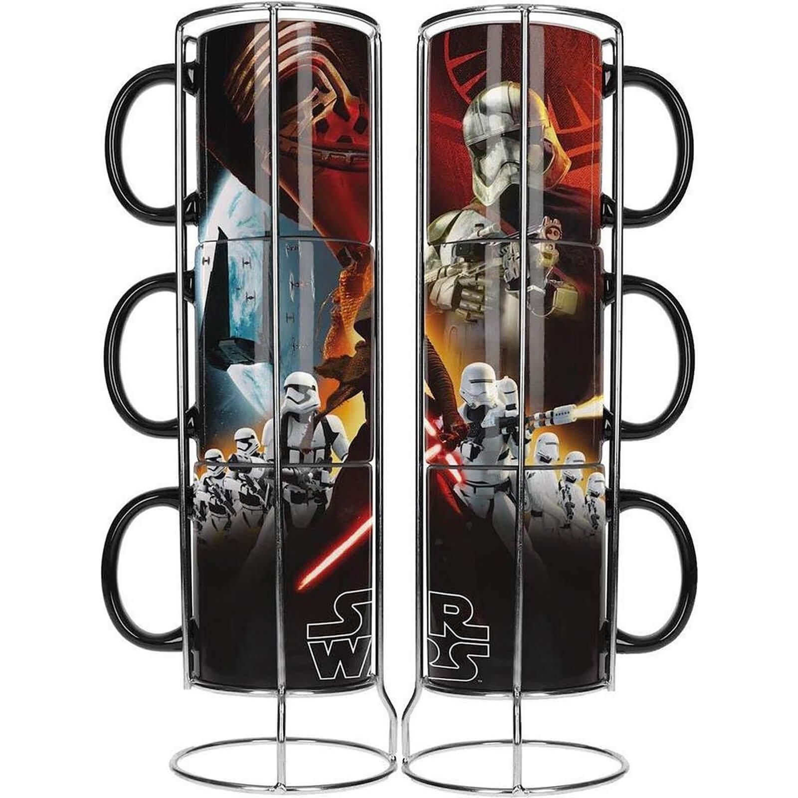 3 Tasses en céramique empilables Star Wars (Black First Order)