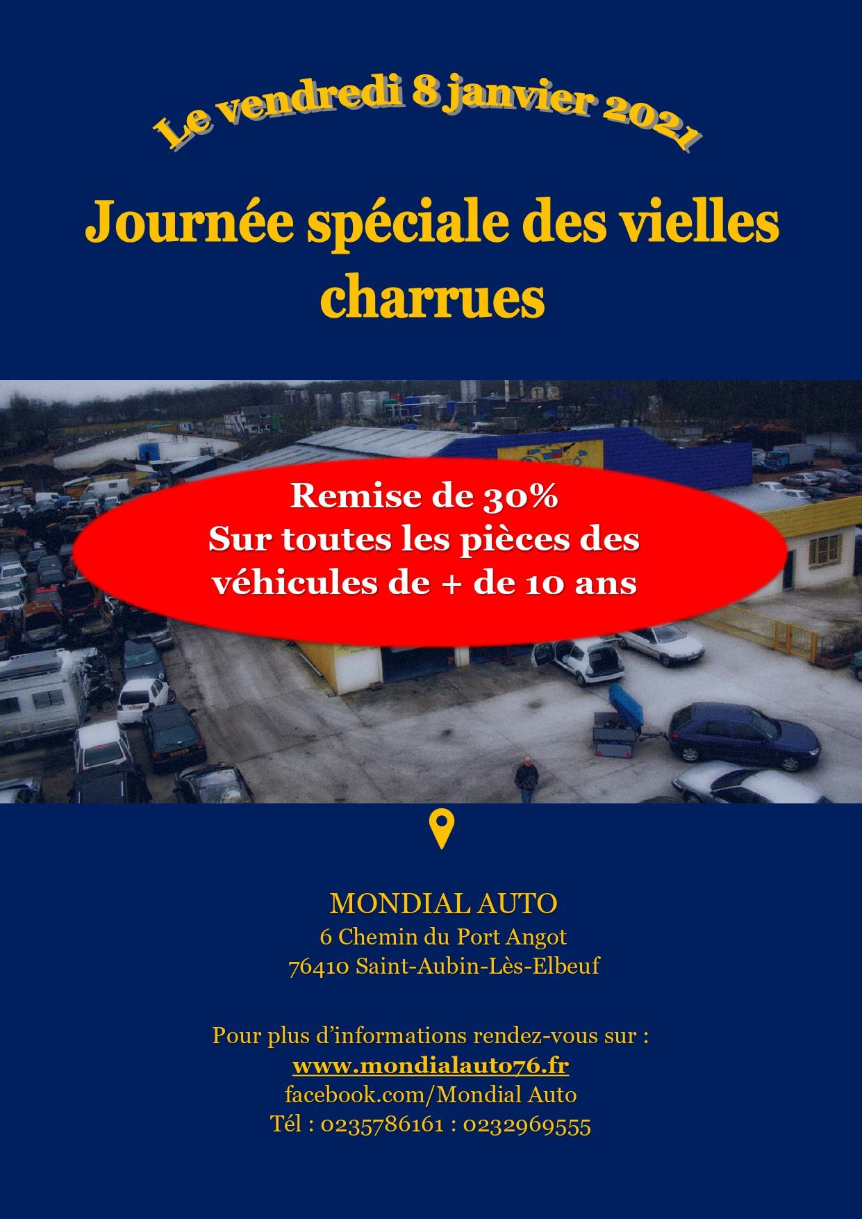 50 % de réduction sur toutes les pièces (seulement sur internet) (www.mondialauto76.fr)