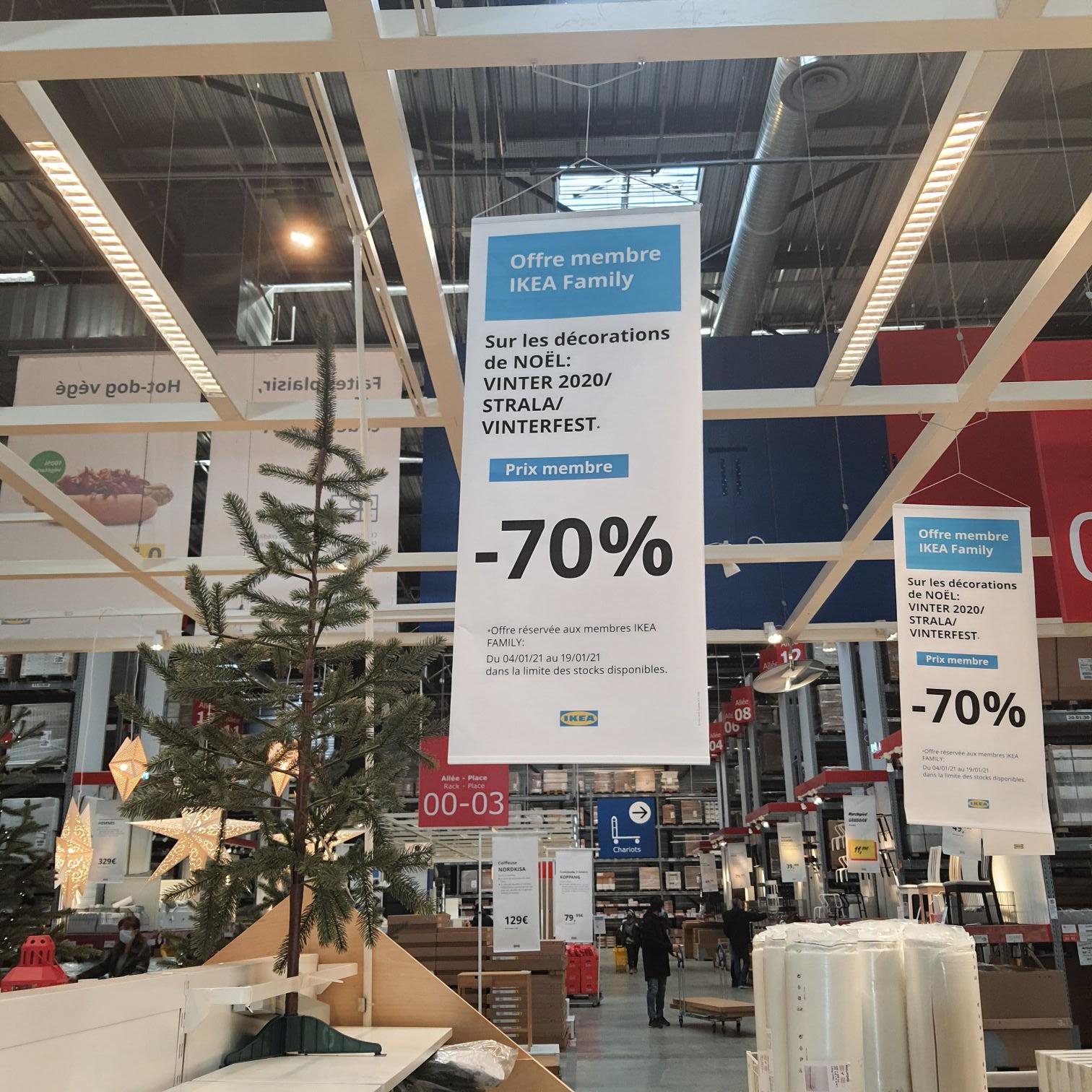 [Ikea Family] 70% de réduction sur les décorations de Noël - La Valette-du-Var (83)