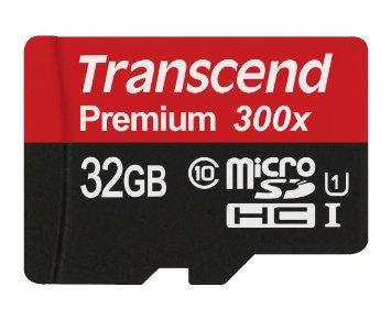 Carte MicroSDHC Transcend Premium 300x Classe 10 - 32Go
